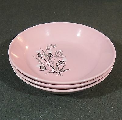 Taylor Smith Taylor TST Pink Thistle Soup Cereal Salad Bowl EUC