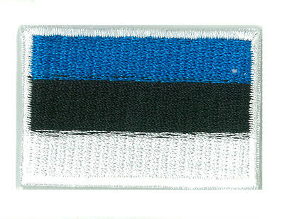 Patch écusson patche ESTONIE petit 45 x 30 mm brodé thermocollant