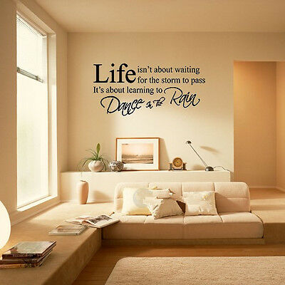 LIFE Letter Words PVC Removable Room Vinyl Decal Art DIY Wall Sticker Home Decor
