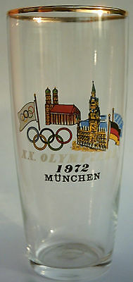 Orig.glass   Olympic Games MÜNCHEN 1972 - Special Edition 1  !!  VERY RARE