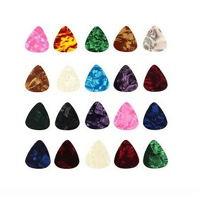 Lots 10pcs Mix Celluloid Acoustic Electric Guitar Picks Plectrums Thin 0.46mm