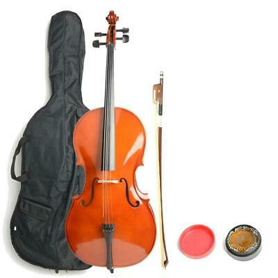 New Retro Color 4/4 Size BassWood Cello +Bag+Bow+Rosin for Beginner