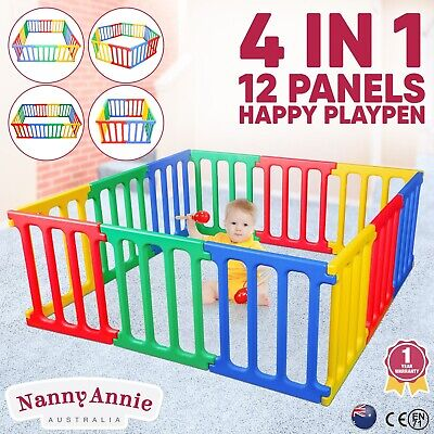 Happy Panel Playpen | Kids Playpen Square 1.65m Plastic Childrens Play Room