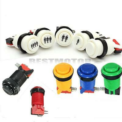 New Arcade Push Buttons Durable Multicade MAME Jamma Game Long Switch Mult-color