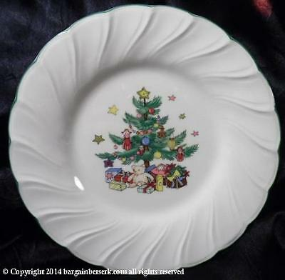 VINTAGE NIKKO HAPPY HOLIDAYS Bread & Butter Plate CHRISTMAS TREE w/PRESENTS LH13