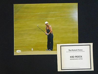 Kid Rock 2008 Buick Open Officially Licensed Detroit News 8 X 10 W/certificate