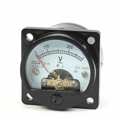 45mm Dia Round Panel Analog Volt Dial Meter SO-45 AC 0-300V