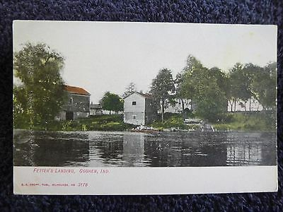 Early 1900's The Fetter's Landing in Goshen, In Indiana PC