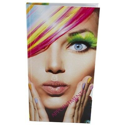 Appointment Book Diary 3 - 6 Column Modern Design RAINBOW Hair Salon Mobile