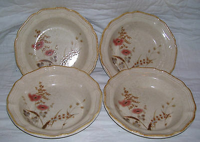 Set of 4 Mikasa Country Charm Strawflowers SOUP / CEREAL BOWLS FG003