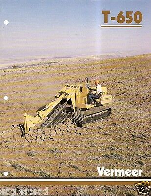 Equipment Brochure - Vermeer - T-850 - Trencher Trench Cutter - c1987 (E1789)