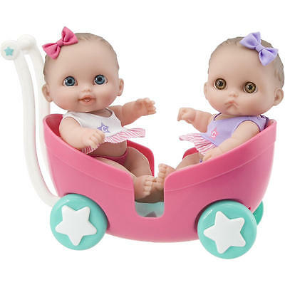 Lil' Cutesies 8.5 inch Twin Dolls in Stroller