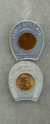 "#171C) Double-Apple Wine Baltimore, MD. encased ""Lucky Cent"" (14/28Aug)"