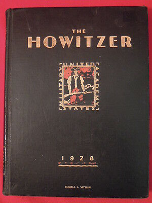 1928 West Point United States Military Academy The Howitzer Yearbook