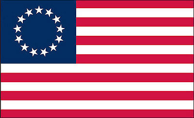 "1 qty of 3""x5"" Flag Decal Sticker - AMERICAN BETSY ROSS FLAG 13 STAR"