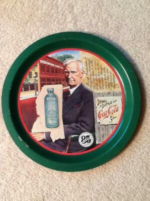 Vintage Drink a Bottle Coca-Cola serving tray 85th years anniversary candy