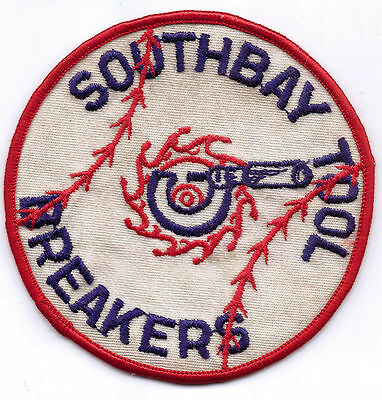 SOUTHBAY TOOL BREAKERS BASEBALL  PATCH-FOUR INCHES WIDTH-1970'S
