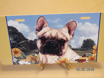 FRENCH BULLDOG FRENCHIE FAWN BROWN BLACK MASK LICENSE PLATE