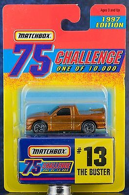 Matchbox MB 13 The Buster Gold 75 Challenge 1997 Edition Mint On Card