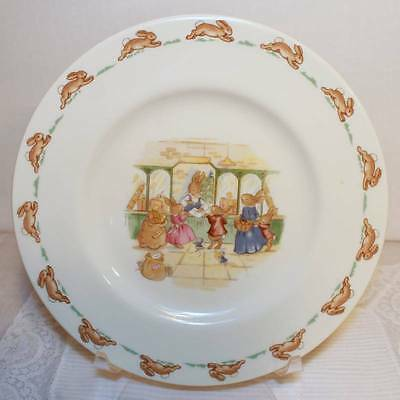 """Royal Doulton Bunnykins 1936 Child's Salad Plate 8.25""""  At The Post Office"""