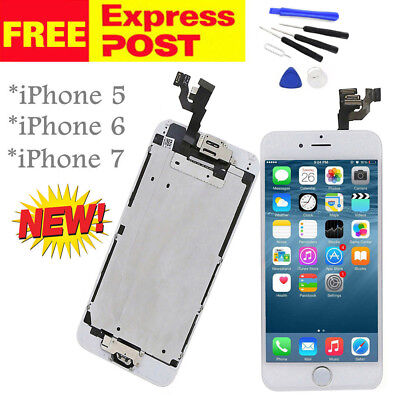 iPhone 5S LCD Screen Replacement Digitizer Display Assembly Home Button Camera