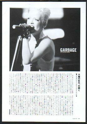 2002 Garbage 1pg 1 photo in JAPAN mag article / shirley manson clipping g02r