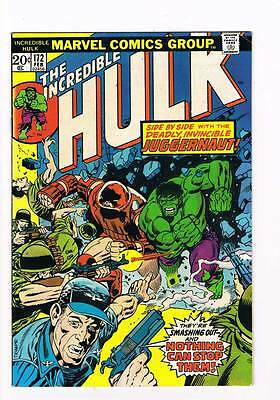 Incredible Hulk # 172  Side by Side With the Juggernaut !  grade 7.5 scarce book