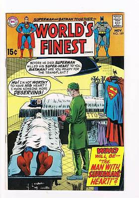 Worlds Finest Comics # 189  Man With Superman's Heart !  grade 6.5 DC Silver Age