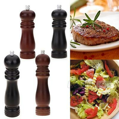 Pepper Salt Mill Grinder Grinding Wood Kitchen Cooking Home New