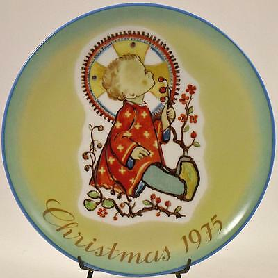 "HUMMEL 1975 ANNUAL CHRISTMAS PLATE ""CHRISTMAS CHILD"" Schmid BOX NEW"