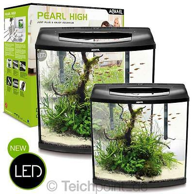 AquaEl Aquarium LED komplett Set Pearl High, Glasbecken Aquariumset