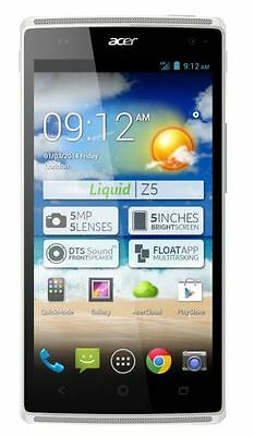 Acer Liquid Z5 Android Mobile Phone White Touchscreen Smartphone Unlocked