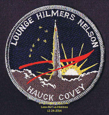 LMH PATCH Badge  NASA STS-41  SPACE SHUTTLE Discovery 1990 Insignia Shepherd  4 NASA Program