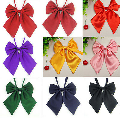 Women Neck Tie Girl Party Banquet Sailor School Pre-tied Thin Bowtie Bow