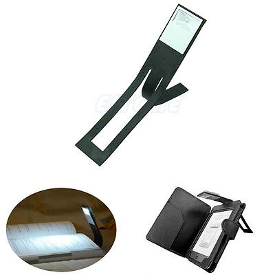 New Black Flexible Folding LED Clip On Reading Book Light Lamp For Reader Kindle