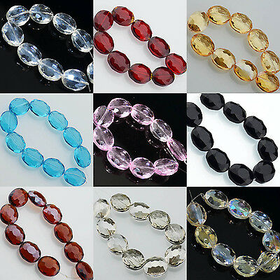 Colorful Quality Faceted Crystal Quartz Oval Gemstone Beads Pick