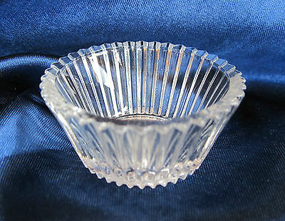 "H&J #2614 ~ CENTRAL GLASS (NOT HEISEY) ""FINE PRISM"", OPEN SALT, CELLAR, DIP"
