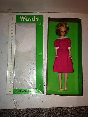 Vintage 1960's Mint In Box Wendy Doll By Elite,Pink Dress Outfit,Bubble Cut,MIB