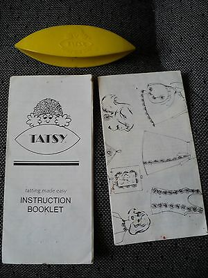1976 TATSY Yellow Lace Making Tool - With Instructions/Patterns