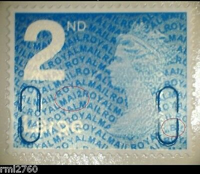 2012 MA12 + MBIL 2nd Large from Business Sheet SINGLE MINT STAMP
