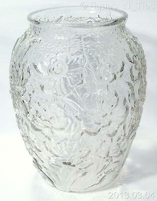 Consolidated Phoenix Unfinished Clear Glass Le Fleur or Poppy Large Vase (FF)