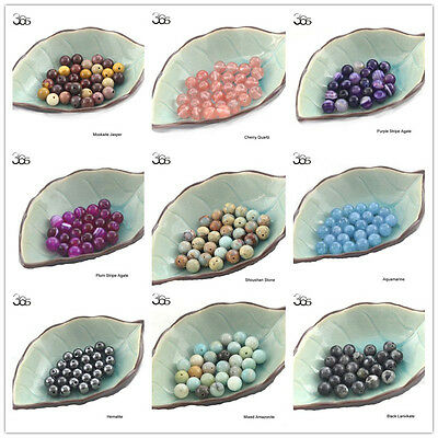 Natural Round Spacer Gemstone Jewelry Making Loose Beads Wholesale Strand 15""