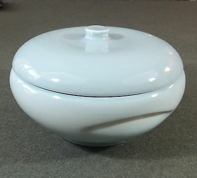 Iroquois Casual China Russel Wright Seafoam Blue Casserole Vegetable Bowl Dish