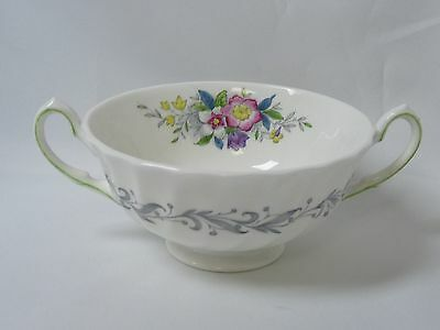 Royal Doulton Windermere Bone China Footed Cream Soup Bowl Top Point Handle
