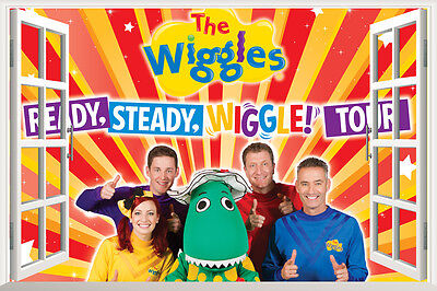 The Wiggles 3D Window Wall Stickers Decals Removable Kids Nursery Mural Decor