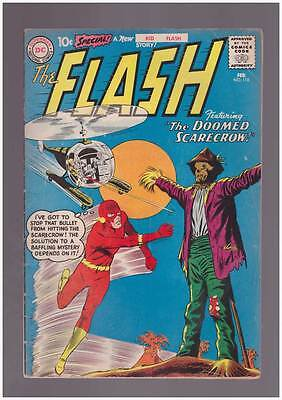Flash # 118  The Doomed Scarecrow !  grade 4.0 scarce book !!