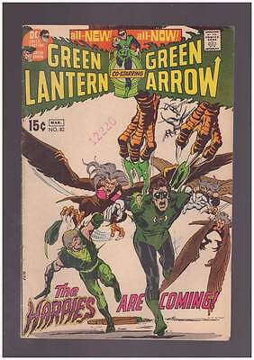 Green Lantern # 82  The Harpies are Coming ! N. Adams  grade 4.5 scarce book !!