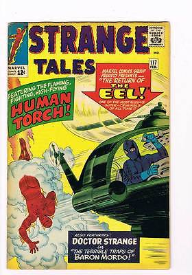 Strange Tales # 117 The Eel ! Human Torch Dr. Strange ! grade 7.5  scarce book !