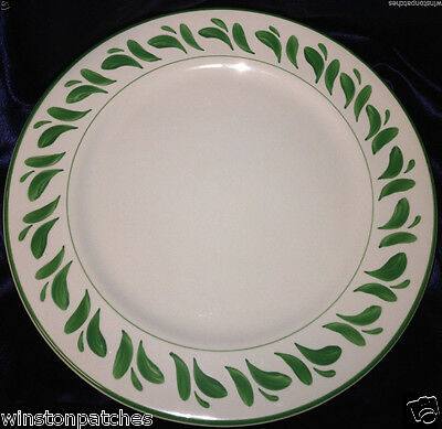 "Williams Sonoma Anfora Mexico Verde 12.25"" Chop Plate Round Platter Green Leaves"