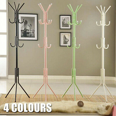 11 Hooks Coat Clothes Rack Umbrella Stand Tree Style Hanger Hooks Multi OZ STOCK